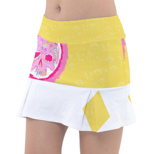 Women's Tennis skirt/ flower_pattern2