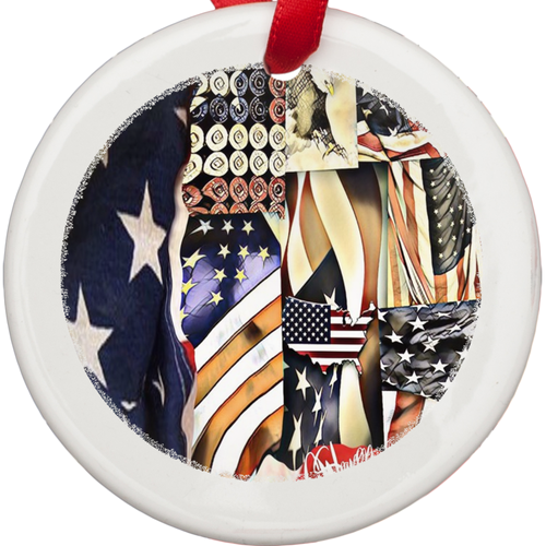 Porcelain Ornaments patriotic