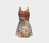 Flare dress Abstract squares