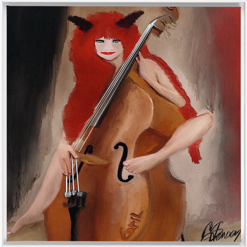 Framed Traditional Stretched Canvas 'the devils musical' 60x60