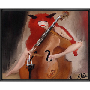 Framed Traditional Stretched Canvas devils musical