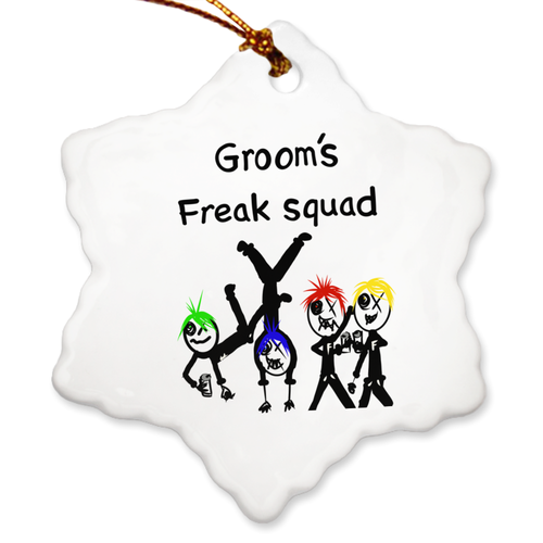 Porcelain Ornaments Grooms Freak Squad