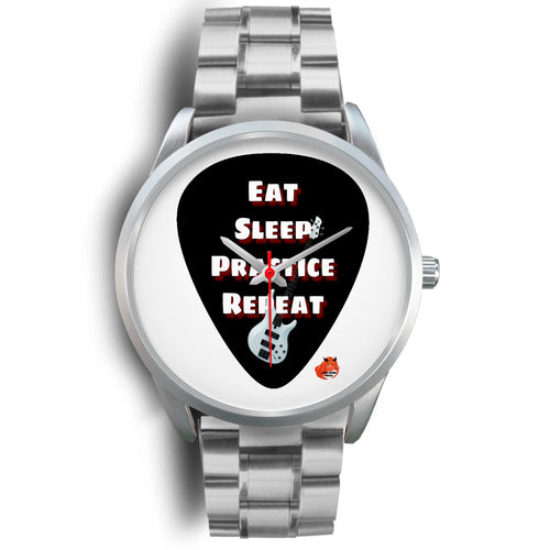 Designer watches eat sleep practice guitar