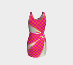 Bodycon dress Pink check