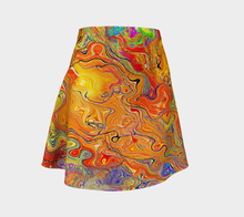 flare skirt warm  tones