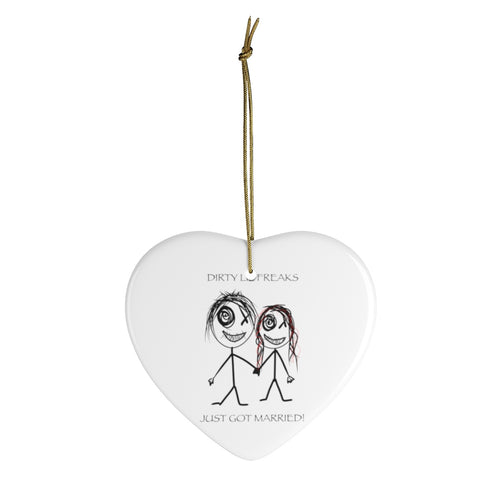 Ceramic Ornaments DLF just married