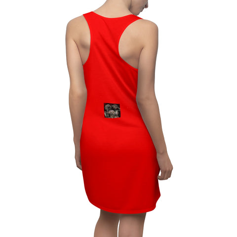 Women's Cut & Sew Racerback Dress see,hear,speak no evil