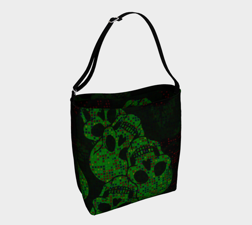 Day tote Green skull