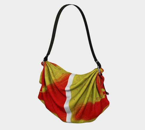 Origami tote Red yellow burst