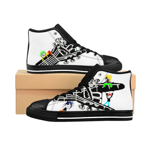 Men's High-top Sneakers DLF playin all night