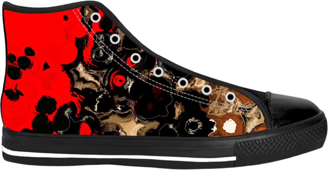 High Top Shoes Abstract Collection Indian43