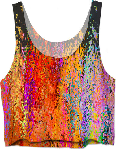Crop Top Abstract Collection Raining Colors12