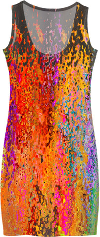 Women's Simple Dresses Abstract Collection Raining Colors37