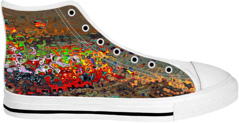 High Top Shoes Abstract Collection1