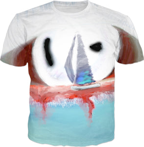 T-shirts Abstract Collection Sailboat96