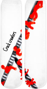 Crew Socks Abstract Collection Crack Crawlers