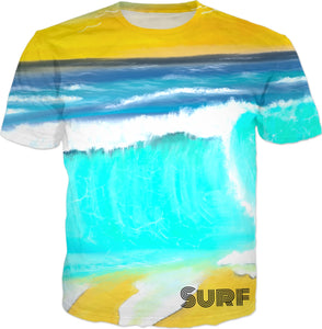 T-shirts Beach Painting Surf172
