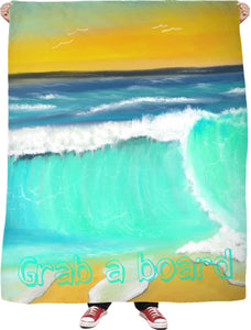 Blankets Ocean Painting Grabs Board