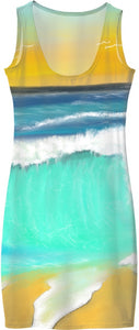 Women's Simple Dresses/Ocean Painting