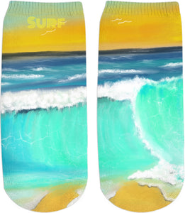 Socks/ankle socks Ocean Painting Surf