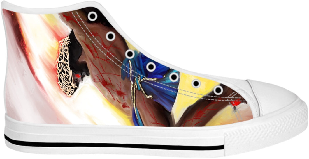 High Top Shoes Jesus Painting
