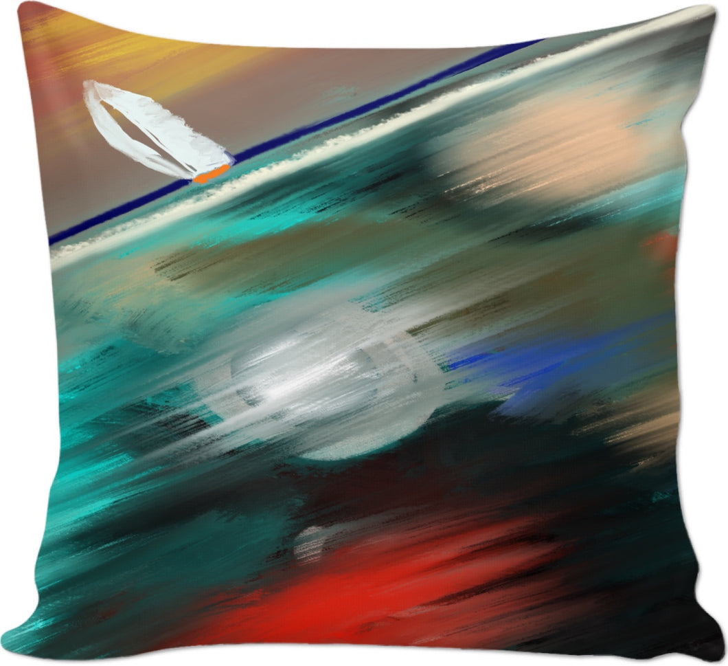 Couch pillows Ocean Painting Sailboat