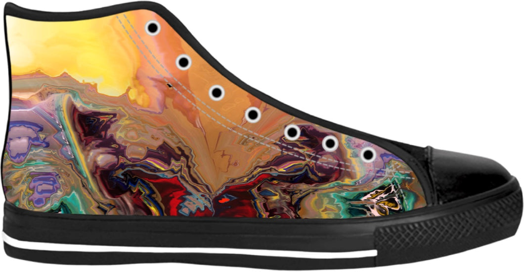 High Top Shoes Abstract Collection2