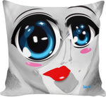 Couch pillows Abstract Collection Baby Blu