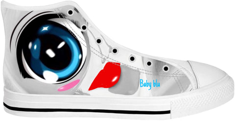 High Top Shoes Abstract Collection Baby  Blu