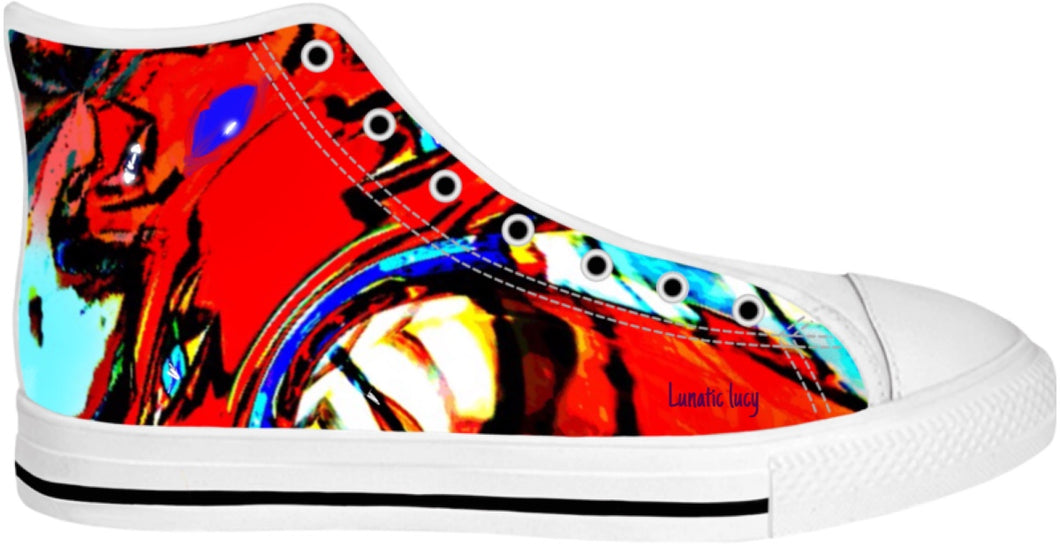 High Top Shoes Abstract Collection Lunatic Lucy44