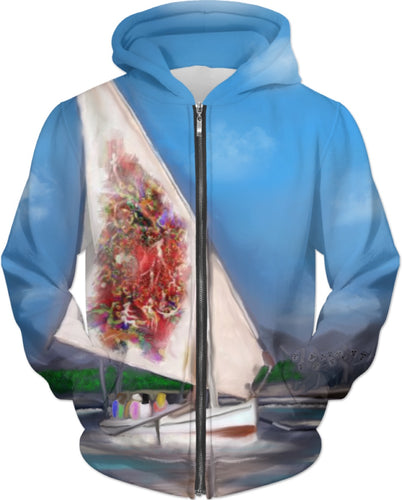 Hoodies Abstract Collection Sailboat