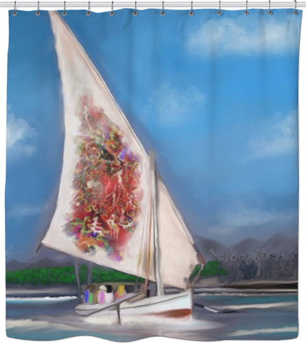 Shower curtain Abstract Collection Sailboat