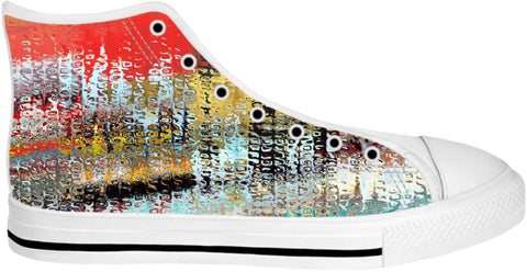 High Top Shoes Abstract Collection7