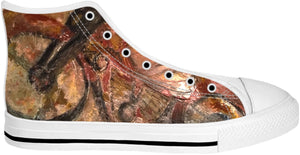 High Top Shoes Abstract Concrete Painting