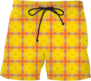 Swim shorts Pattern Collection yellow 463