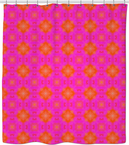 Shower curtain pink Pattern Collection516