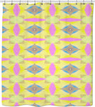 Shower curtain yellow Pattern Collection519