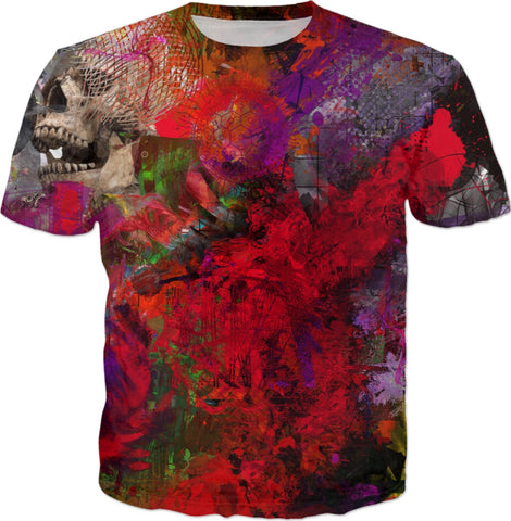 T-shirt Abstract Collection Skull