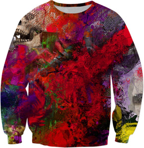Sweatshirts Abstract Collection Skull