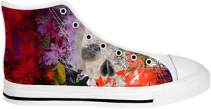 High Top Shoes Abstract Collection Skull