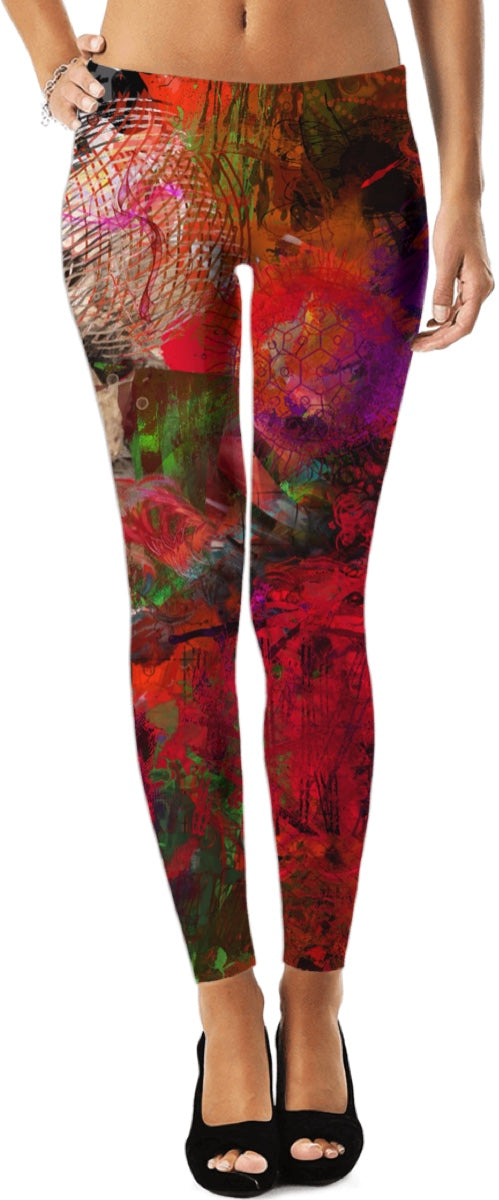 Leggings Abstract Collection Skull