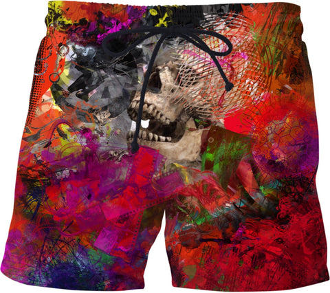 Swim shorts Abstract Collection Skull