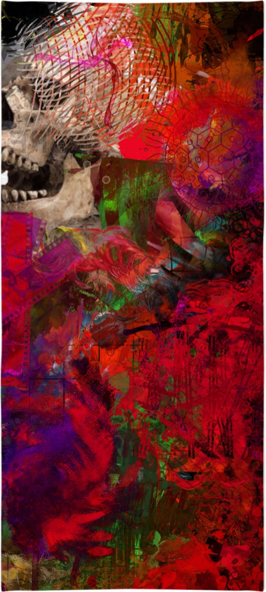 Bath Towels Abstract Collection Skull