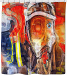 Shower curtain Fireman Collection Abstract