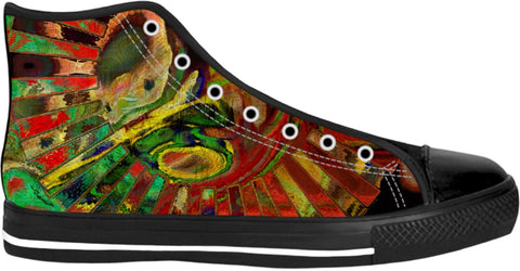 High Top Shoes Abstract Collection17