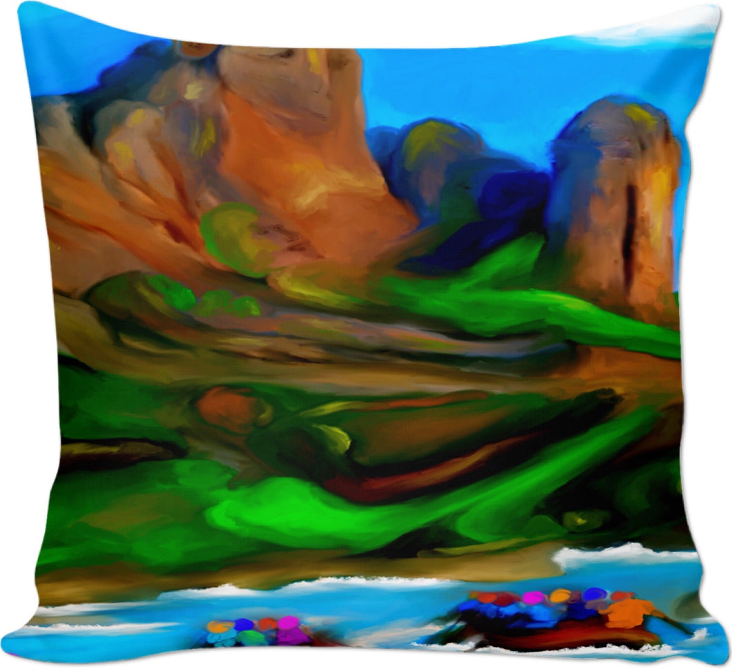 Couch pillows Abstract Collection Rafting