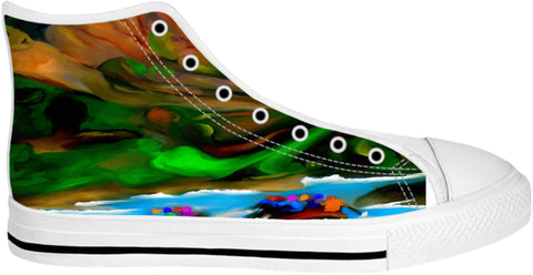 High Top Shoes Abstract Collection Rafting