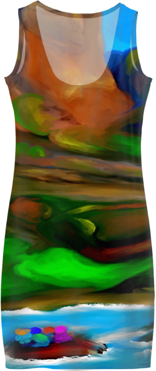 Women's Simple Dresses Abstract Collection Rafting36