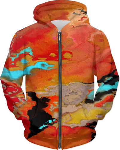 Hoodies Abstract Collection Motorcycle Lady