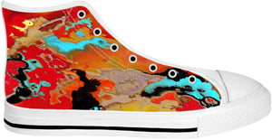 High Top Shoes Abstract Collection Motorcycle Lady